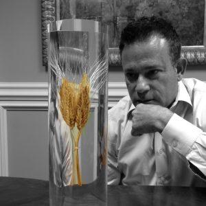 Guy DaSilva, MD studying wheat