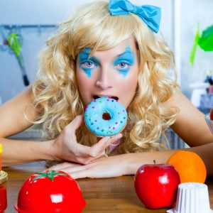 Funny Girl eating Gluten